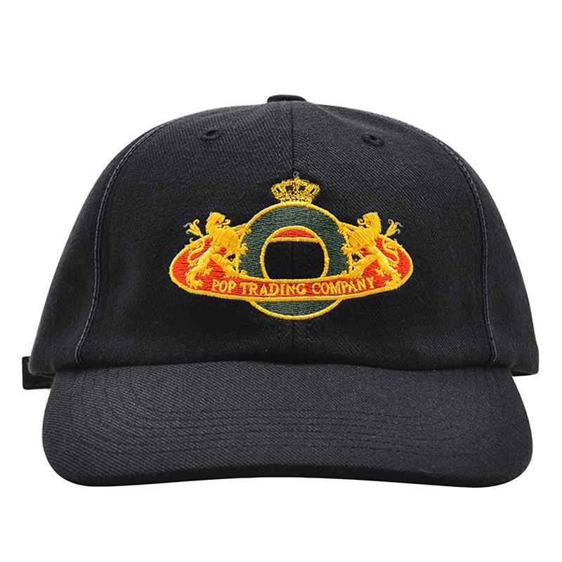 Pop Trading Company Royal O 6 Panel Hat Black