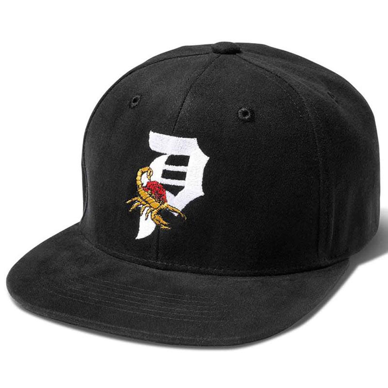 Primitive Scorpion Rose Snapback Cap Black