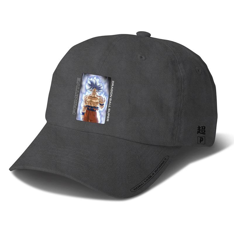 Primitive x DBS Goku Ultra Instinct Washed Strapback Cap Black