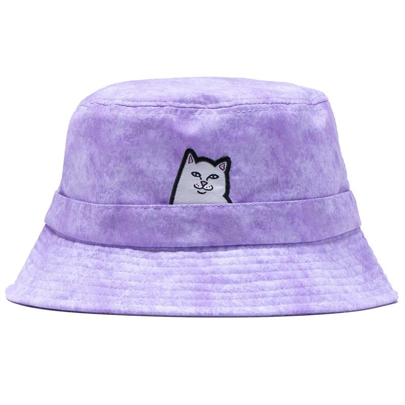 RIPNDIP Lord Nermal Bucket Hat Purple Mineral Wash