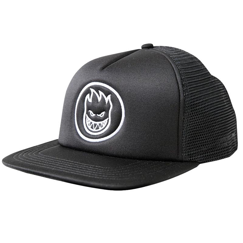Spitfire Bighead Circle Trucker Hat Black/White