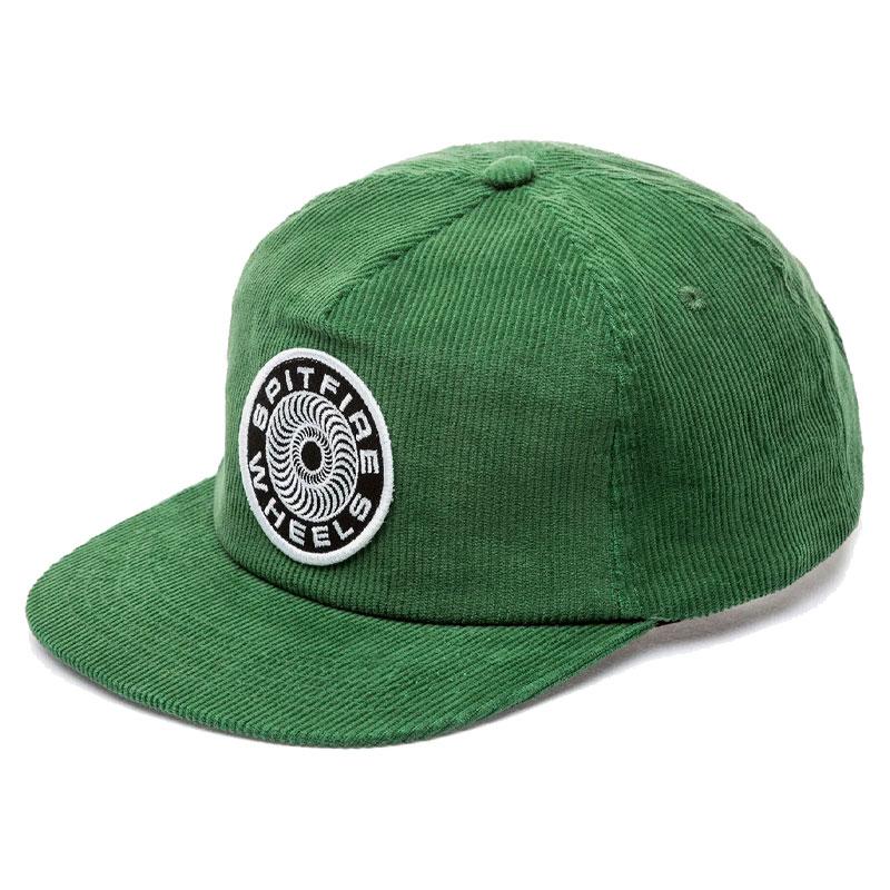 Spitfire Classic 87' Swirl Snapback Cap Dark Green