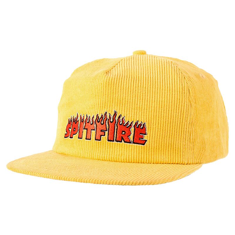 Spitfire Flash Fire Snapback Cap Yellow