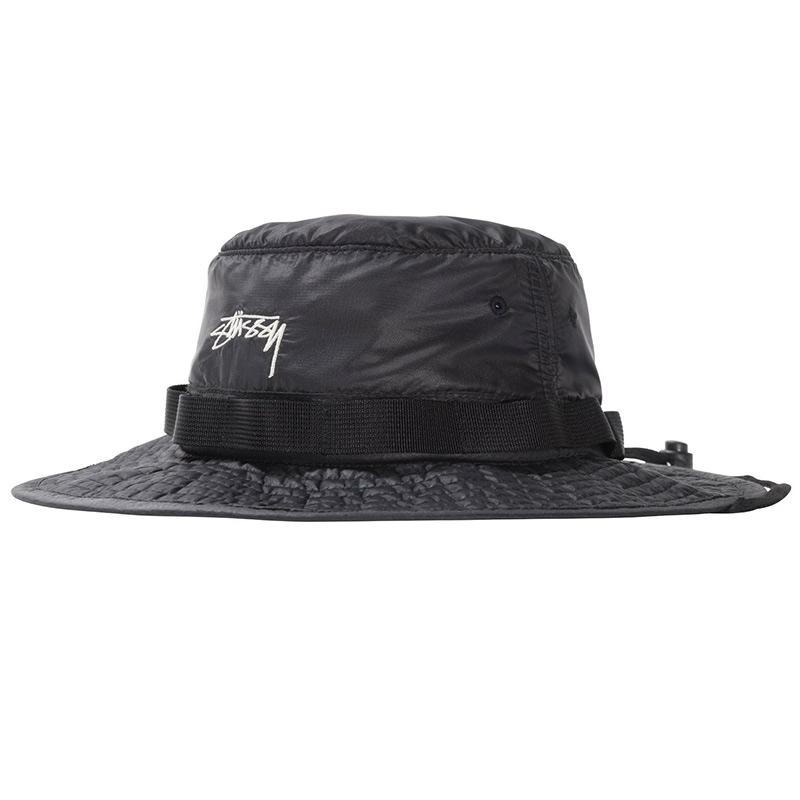 Stussy 2Tone Nylon Boonie Hat Black