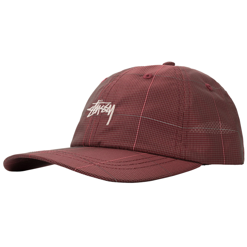 Stussy Reflective Window Pane Low Pro Cap Red