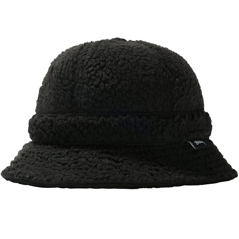 Stussy Sherpa Fleece Bell Bucket Hat Black