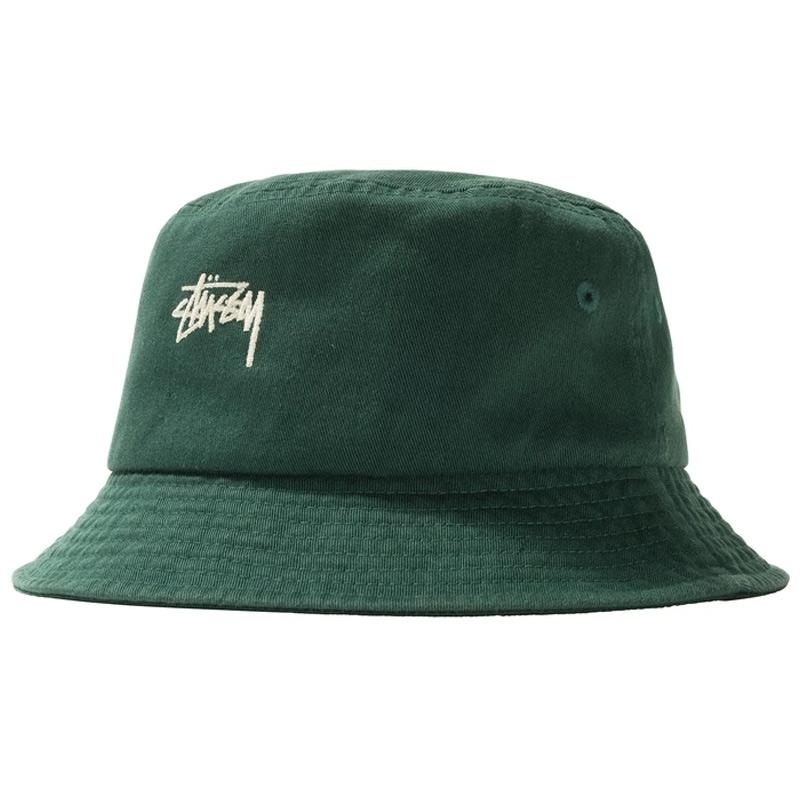 Stussy Stock Bucket Hat Green