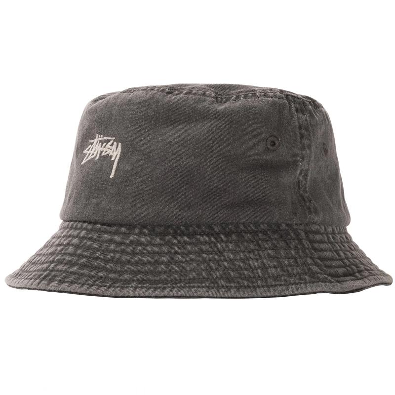Stussy Stock Washed Bucket Hat Black
