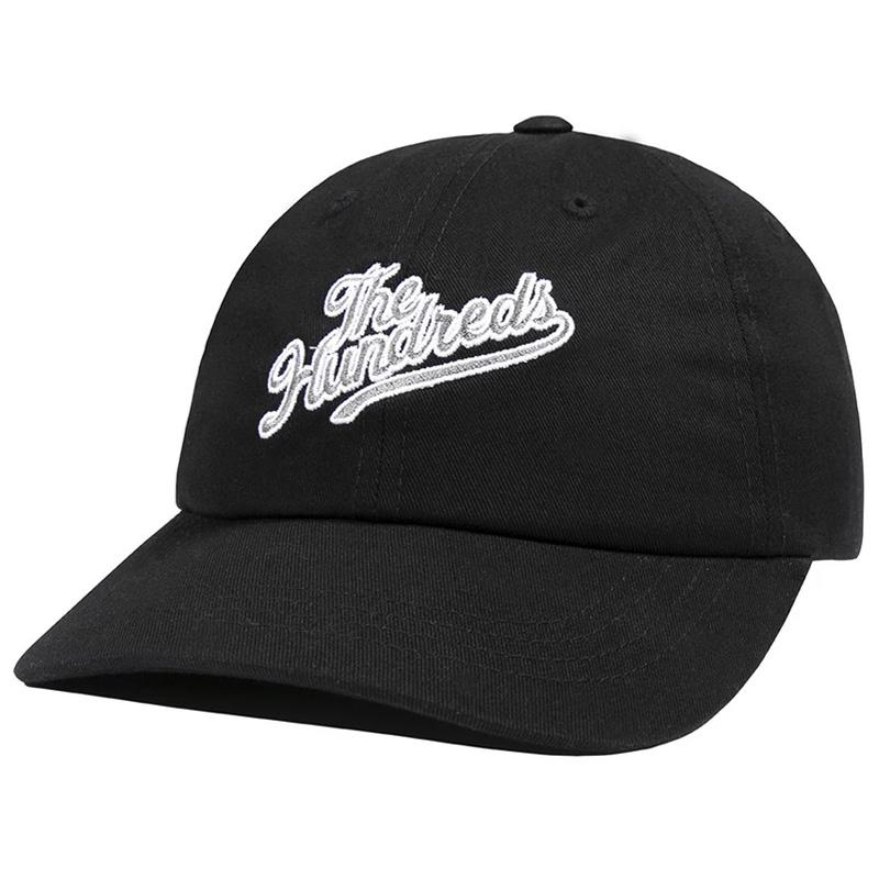 The Hundreds Slant Dad Hat Black