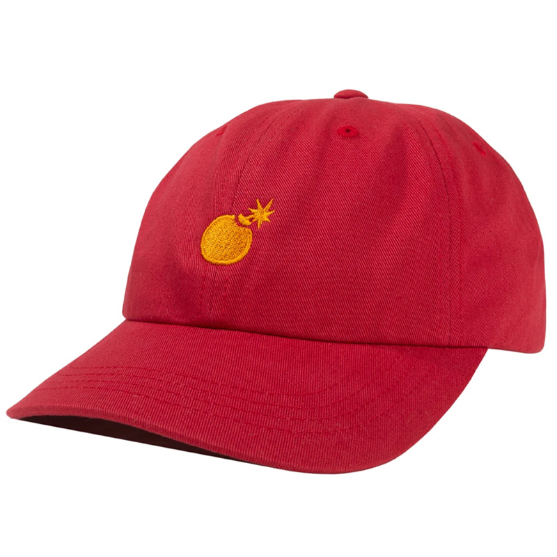 The Hundreds Solid Bomb Dad Hat Red