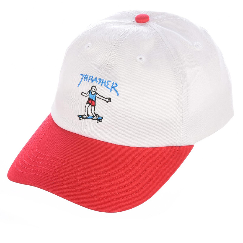 Thrasher Gonz Old Timer Hat White/Red