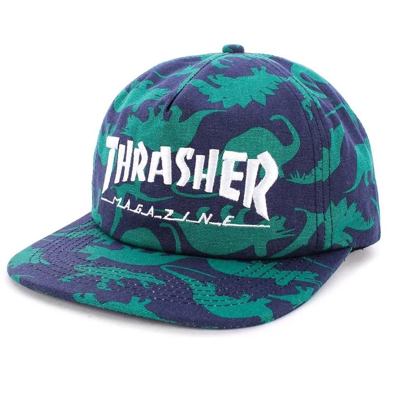Thrasher Mag Logo Snapback Dino Print