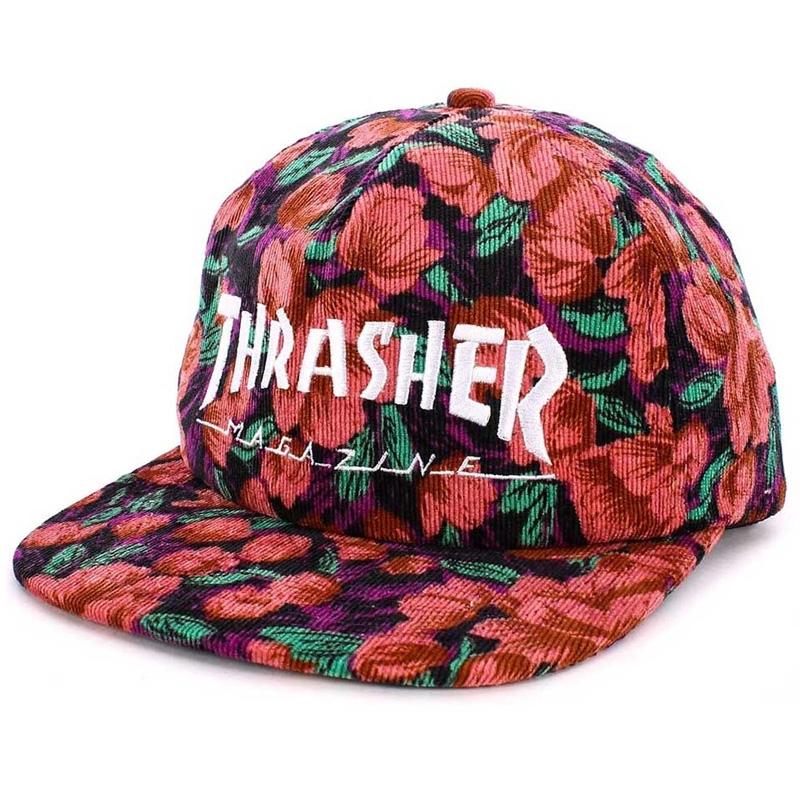 Thrasher Mag Logo Snapback Pink Floral