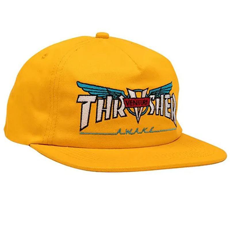 Thrasher x Venture Snapback Cap Gold
