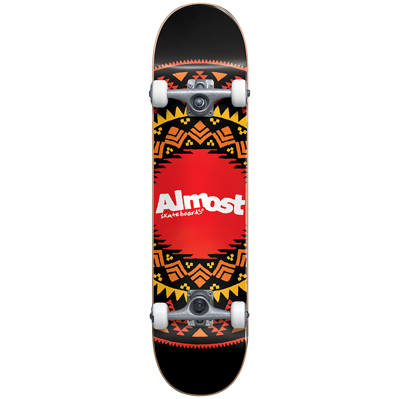 Almost Aztec Geo Complete Skateboard FP Black 8.0