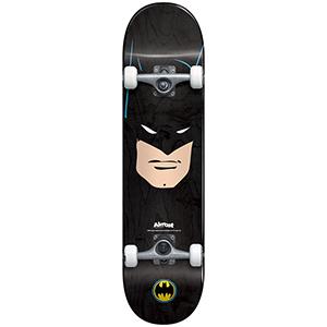 Almost Batman Face Complete Skateboard Premium Black 7.75