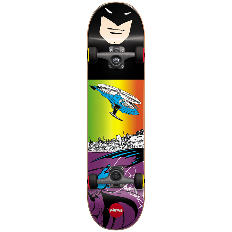 Almost Batman Flight Youth Complete Skateboard With Softer Wheels 7.25