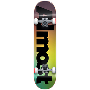 Almost Black Fade FP Complete Skateboard Black 7.625