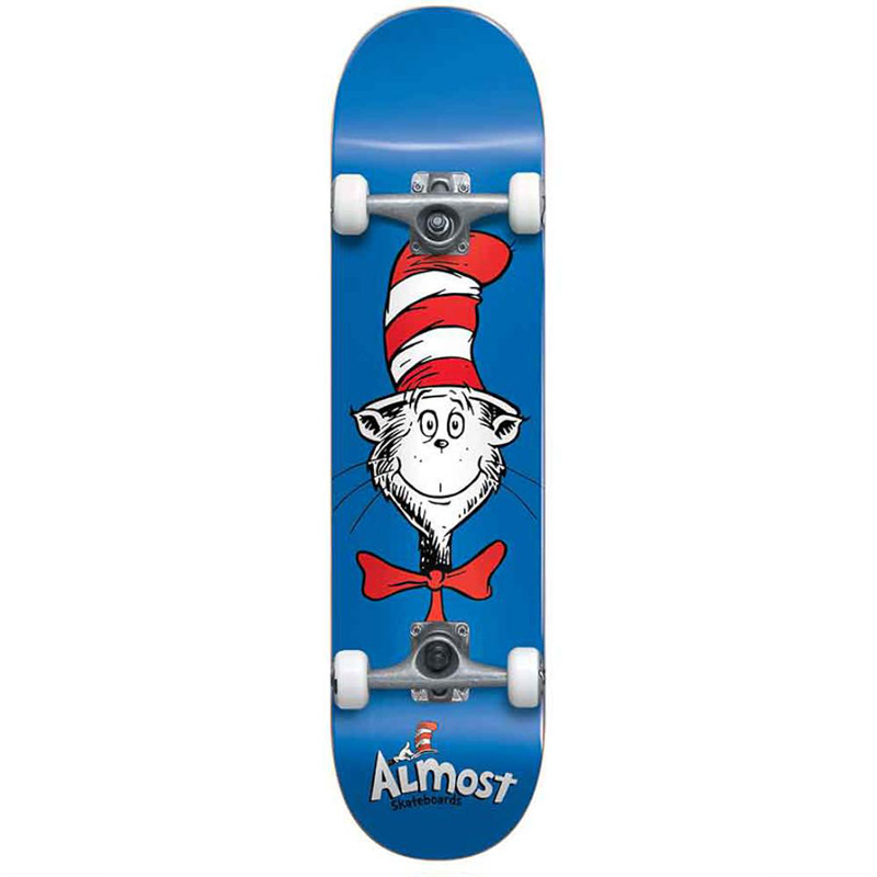 Almost Cat Face First Push Complete Skateboard Black 7.875