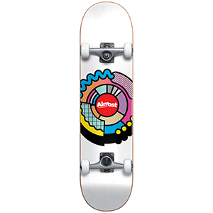 Almost Center Block Youth Complete Skateboard FP White 7.25