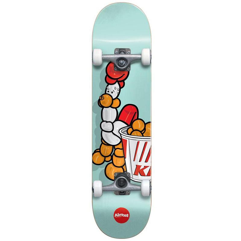 Almost Chicken Balloon Animal Resin Complete Skateboard Pastel Green 7.75