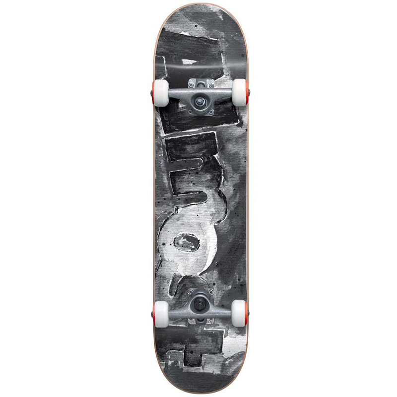 Almost Color Bleed FP Complete Skateboard Black/White 8.0