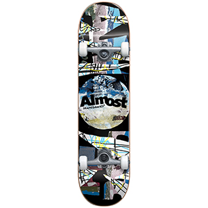 Almost Distressed FP Complete Skateboard Black 8.0