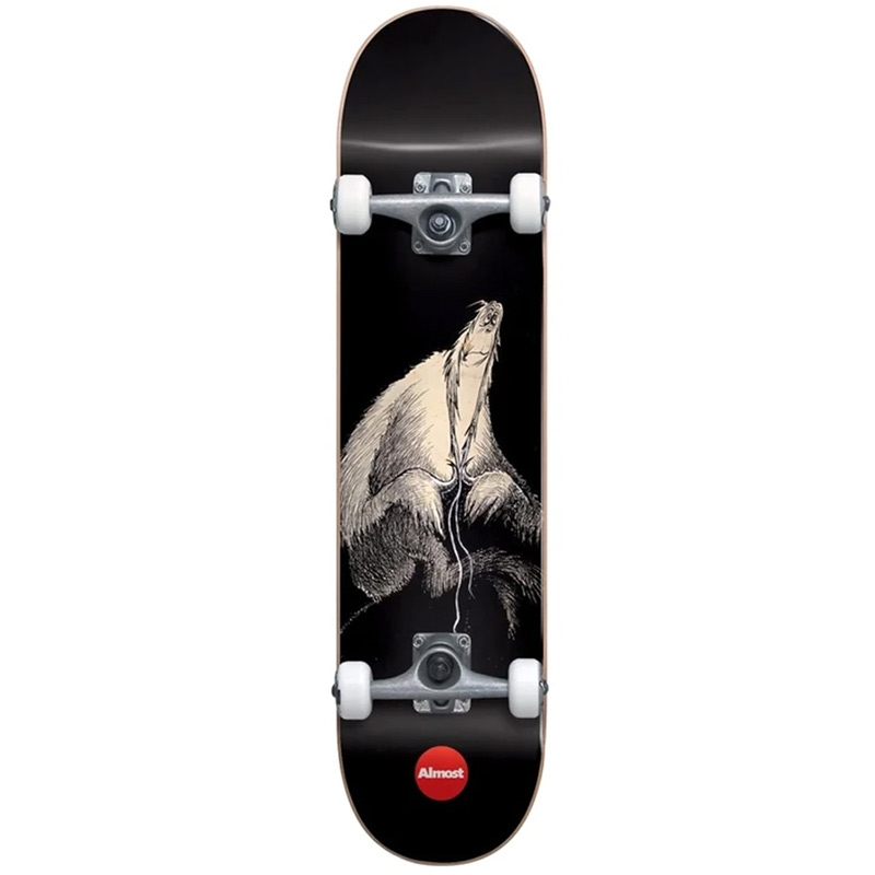 Almost Dr. Secret Art First Push Complete Skateboard Black 7.875
