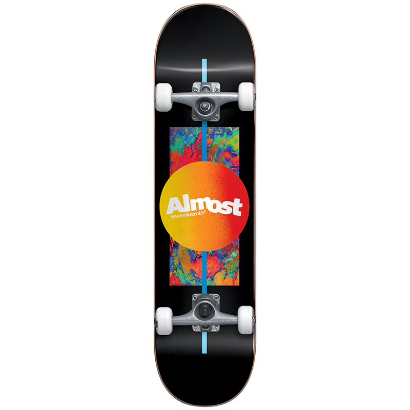 Almost Gradient Flip Youth FP Complete Skateboard Black 7.0