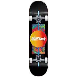 Almost Gradient Flip Youth FP Complete Skateboard Black 7.0