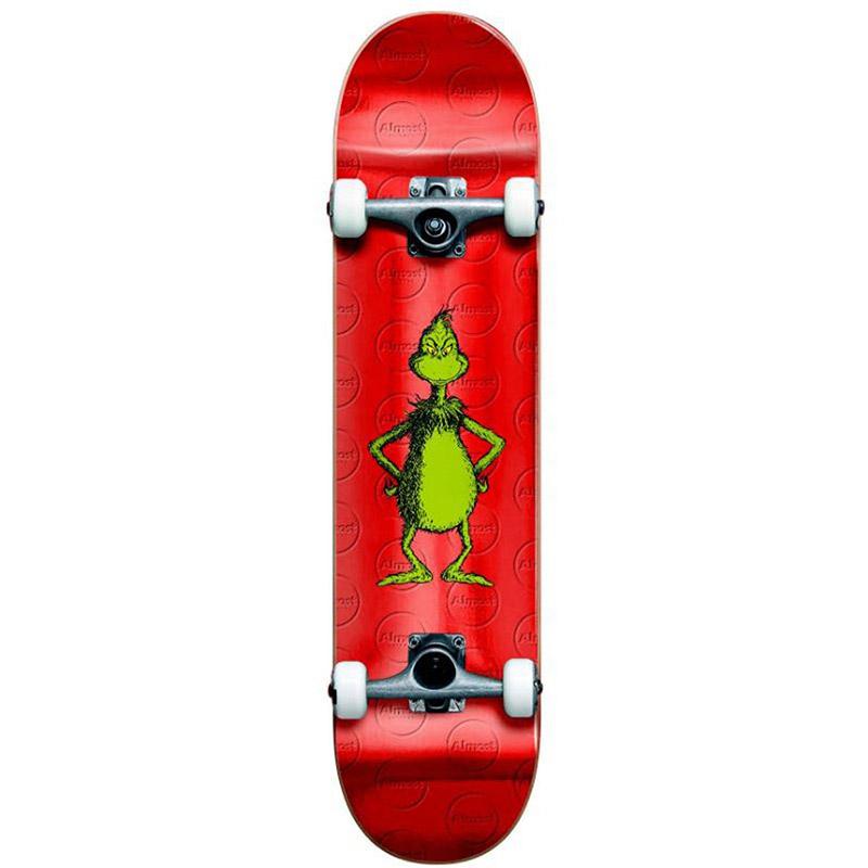 Almost Grinch Foil Complete Skateboard Deck Red 8.0