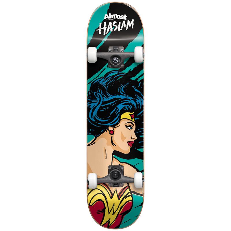 Almost Haslam Sketchy Wonder Woman Complete Premium Skateboard 7.75
