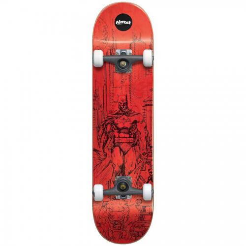 Almost Jim Lee Batman Premium Complete Skateboard Red 7.75