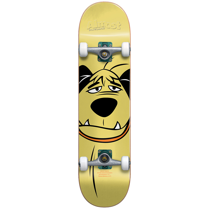Almost Muttley Face Youth Resin Complete Skateboard Tan -with soft wheels- 7.0