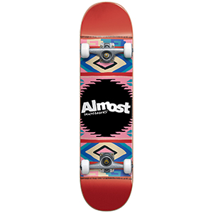 Almost Native American FP Complete Skateboard Red 7.5