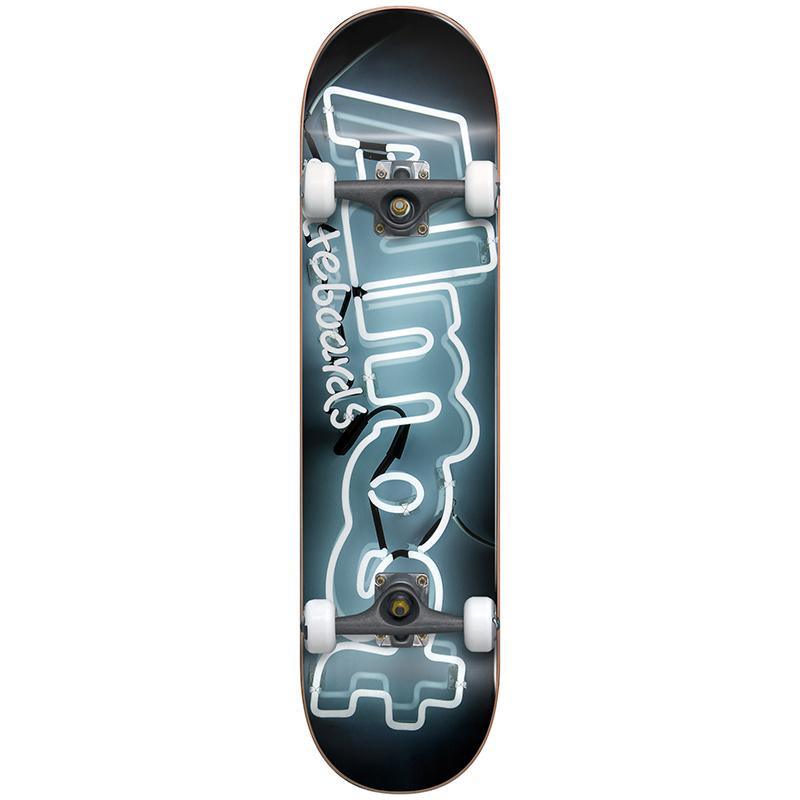 Almost Neon Complete Skateboard FP White/Black 7.625