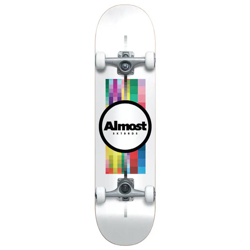 Almost Pixel Flip Resin Complete Skateboard White 7.75