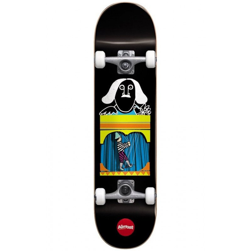 Almost Puppet Master First Push Complete Skateboard Black 8.125