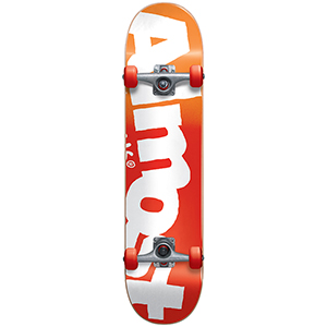 Almost Side Pipe FP Complete Skateboard Red Fade 7.875