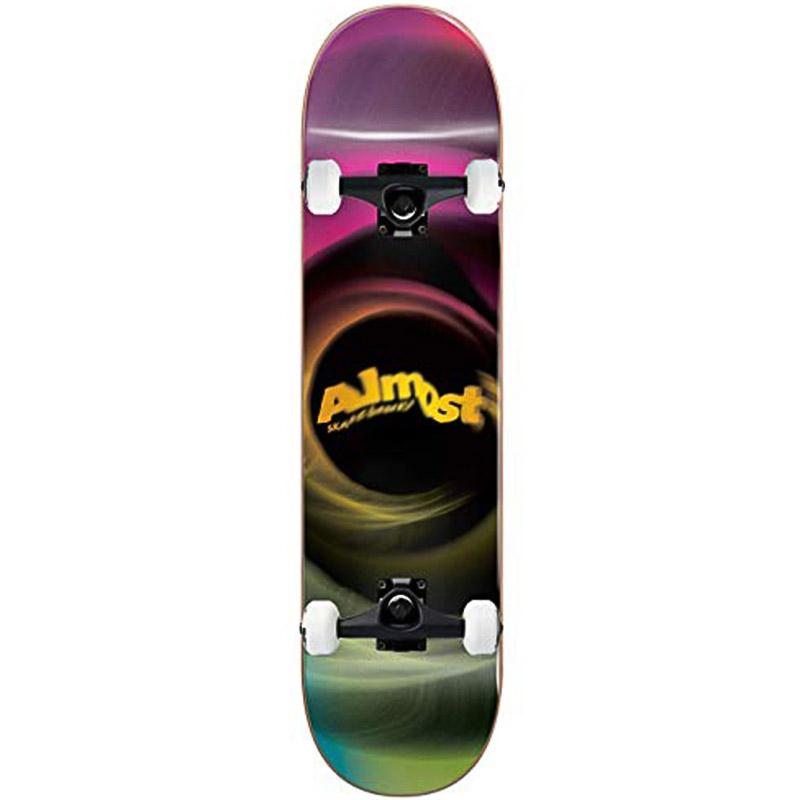 Almost Smear Resin Complete Skateboard Magenta/Green 7.75