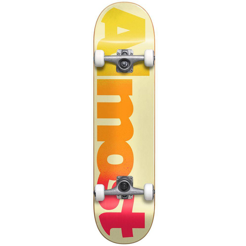 Almost Straight Faded FP Complete Skateboard Cream 7.875