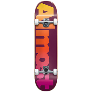 Almost Straight Faded FP Complete Skateboard Maroon 7.875