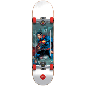 Almost Superman Fight Club Youth Red Complete Skateboard -with soft wheels- 7.0