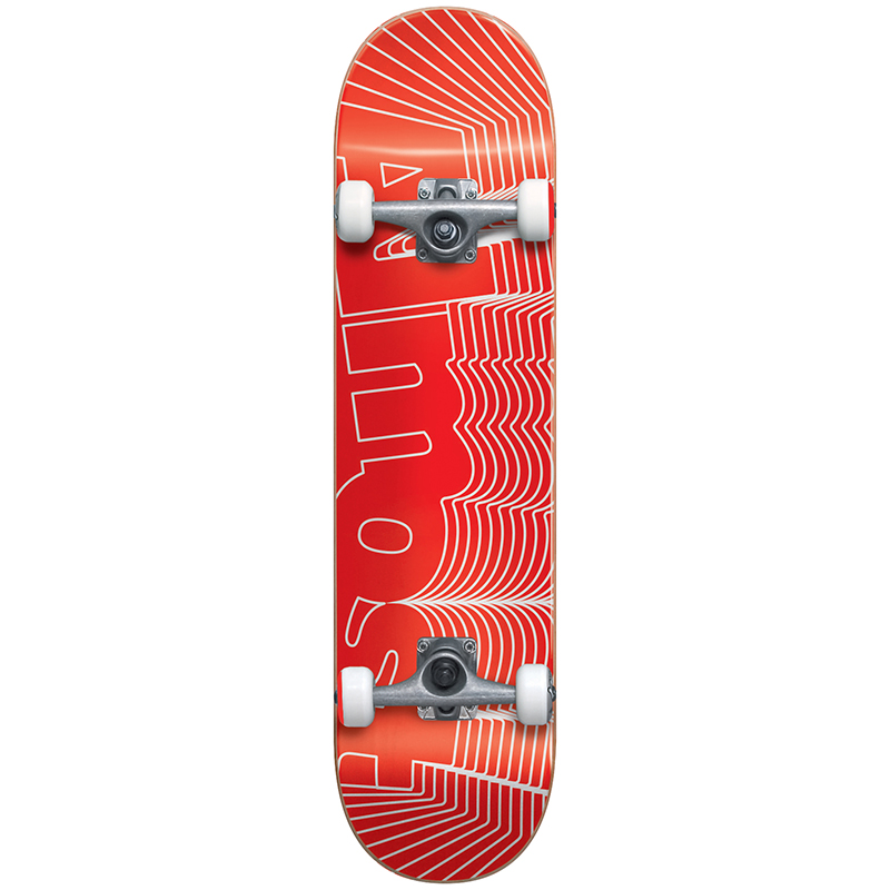 Almost Unknown Pleasures FP Complete Skateboard Red 7.75