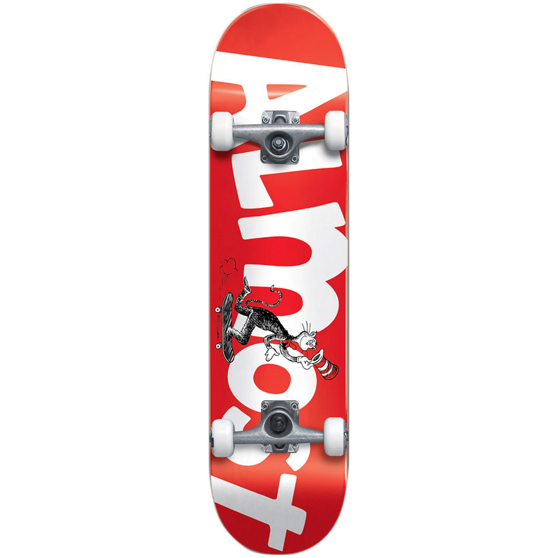Almost x Dr. Seuss Cat Push Youth First Push Complete Skateboard Red 7.0