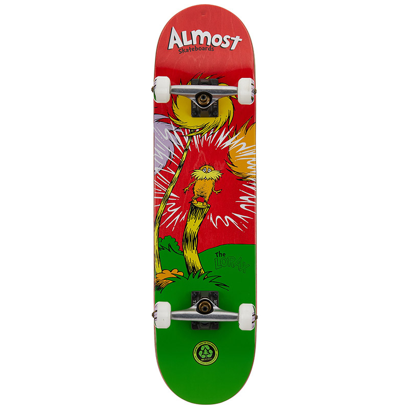 Almost x Dr. Seuss Lorax Premium Complete Skateboard Red 8.0
