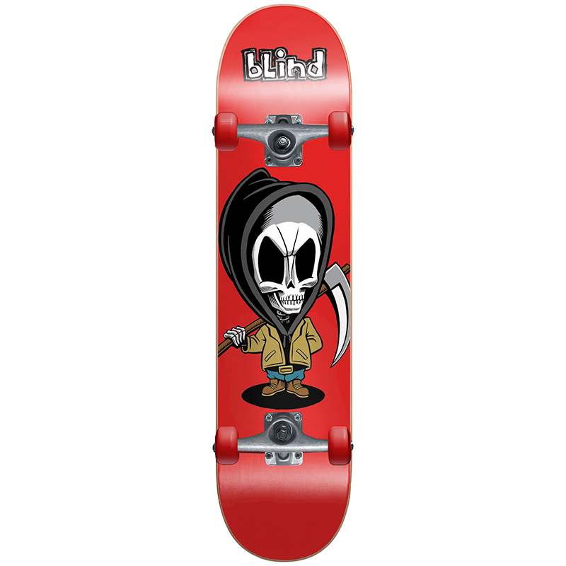 Blind Bone Thug Complete Skateboard with Soft Wheels Red 7.625