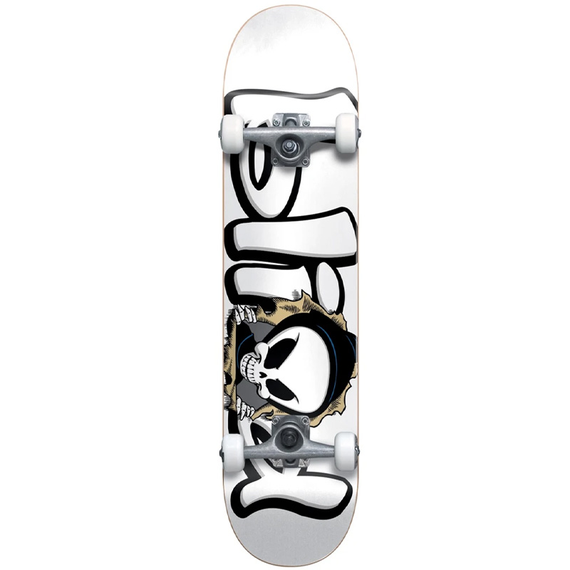 Blind Bust Out Reaper First Push Soft Wheels Complete Skateboard White 7.625