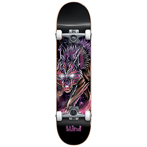 Blind Cosmic Wolf FP Complete Skateboard Purple 7.625