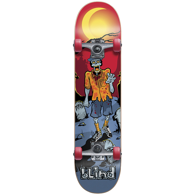Blind D.I.R.T.S. Odd Zombie Youth Soft Wheels Complete Skateboard Mid 7.375